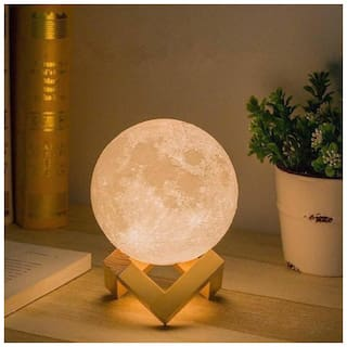 Tripple Light Colour Moon Table Lamp
