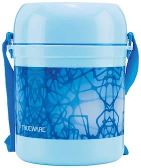 Trueware 3 Container Plastic Lunch Box Set of 3 ( Blue ,  900 ml )