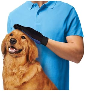 TRYOKART True Touch Deshedding Glove for Gentle and Efficient Pet Grooming