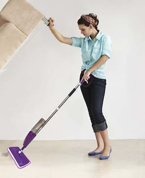 Tryviz Multipurpose Easy Spray Mop with Removal Washable Microfiber Pad Wet & Dry Floor Cleaning  (MULTICOLOR & DESING)