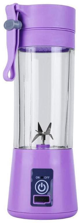 TSV Plastic Portable and Rechargeable Battery Juicer Blender, 380 ml Bottle with USB Cable