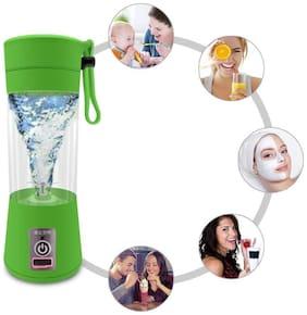 TSV Rechargeable Portable Electric Mini USB Juicer Bottle Blender Plastic Portable USB Electric Blender Juice Cup (Multicolour)