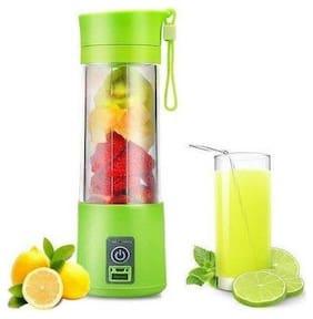 TSV USB Electric Blender Bottle Juicer Mixer Grinder (Green)