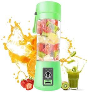 TSV USB Juicer Bottle Blender Handheld Juicer Cup, 380 ml, Rechargeable Battery (Green)