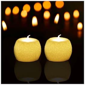 Tuelip Plastic White Candle
