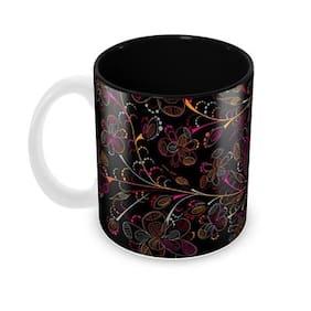 Tuelip Beautiful Cute Fashion Floral Ceramic Printed Mug for Tea And Coffee 350 ml