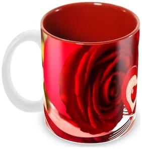 Tuelip Beautiful Love Sharing Ceramic Printed Mug for Tea And Coffee 350 ml