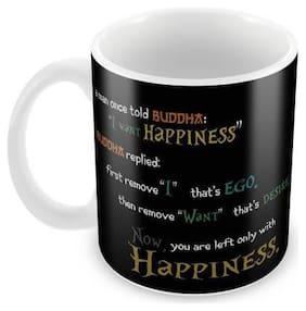 Tuelip Beautiful Buddha Thought Printed for Tea Mug and Coffee Mug Ceramic Mug 350 ML