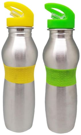 Tuelip Stainless Steel Water Bottle Set of 1 ( Assorted , 750 ml )