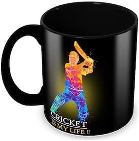 Tuelip Cricket is My Life Printed Ceramic Tea and Coffee Mug 350 ML