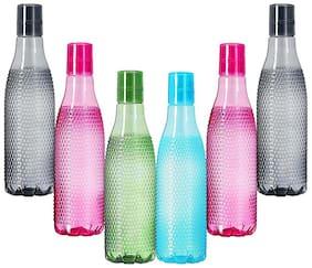 Tuelip GP-Plastic-Reebok-Set-6 Plastic Multi Water Bottle ( 1000 ml , Set of 6 )
