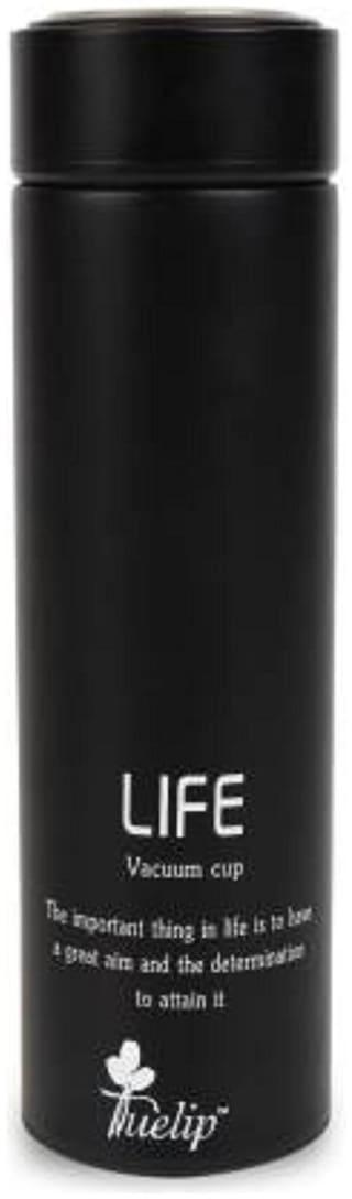 Tuelip Black Thermosteel flask ( 500 ml , Set of 1 )