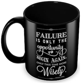 Tuelip Failure is opportunity-Wisely Quote Classic Style Ceramic Printed Mug For Tea And Coffee 350 ml