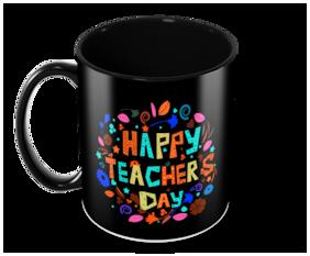 "Tuelip ""Happy Teacher Day"" Printed for tea & coffee Ceramic Mug ( 350Ml )"
