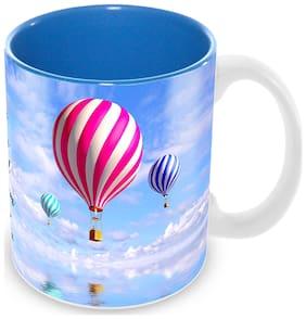 "Tuelip ""I am Choosing Happiness"" Quote Ceramic Printed Mug for Tea And Coffee (350 ML)"