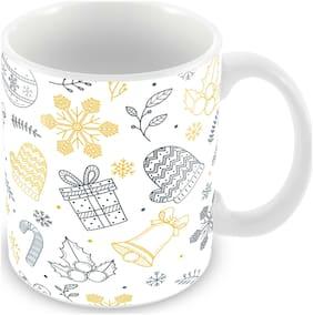 Tuelip Merry Christmas Mug & Happy New Year Mug For Tea & Coffee Ceramic Printed Mug 350 ml