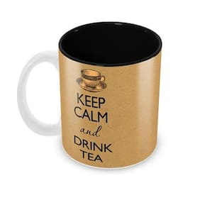 Tuelip Keep Calm And Drink Tea Ceramic Printed Mug For Tea And Coffee 350 ml