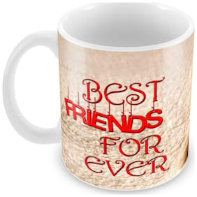 Tuelip Best Friend Forever Ceramic Printed Mug for Tea And Coffee 350 ml