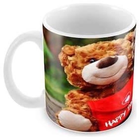 Tuelip Printed Happy Birthday Tea & Coffee Ceramic Mug (350 ml)