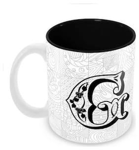 "Tuelip Printed Alphabet ""G"" Tea and Coffee Ceramic Mug 350 ML"
