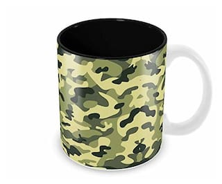 Tuelip Printed Military Camouflage Tea & Coffee Ceramic Mug (350 ml)
