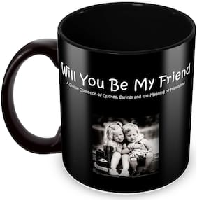 Tuelip Printed Friendship Quotes About Saying The Meaning of Friendship Ceramic Tea and Coffee Ceramic Mug, 350ml