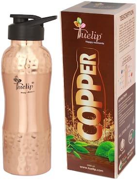 Tuelip Copper Brown Water Bottle ( 1000 ml , Set of 1 )