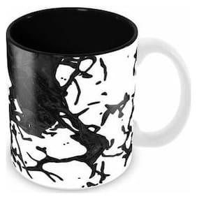 Tuelip Splash Ceramic Printed Mug for Tea & Coffee Ceramic Mug 350 ML