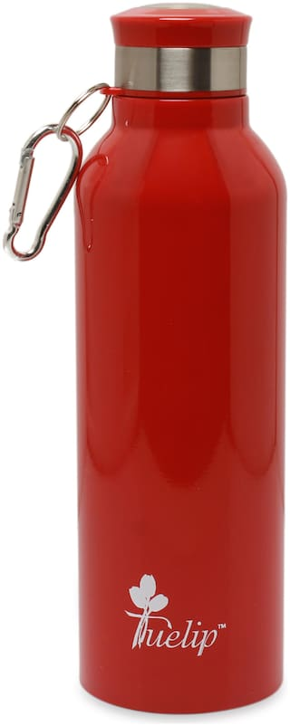Tuelip Stainless Steel Water Bottle Set of 1 ( Red , 700 ml )
