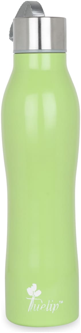 Tuelip Stainless Steel Green Water Bottle ( 750 ml , Set of 1 )