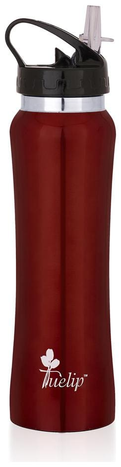 Tuelip 750 ml Stainless Steel Red Water Bottles - Set of 1