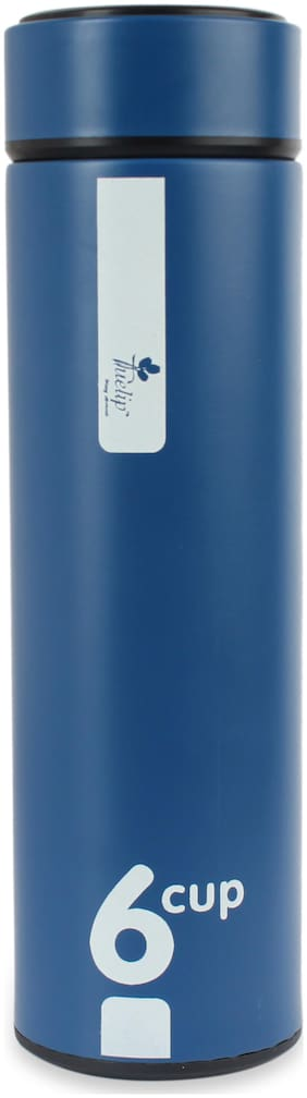 Tuelip Blue Thermosteel flask ( 500 ml , Set of 1 )