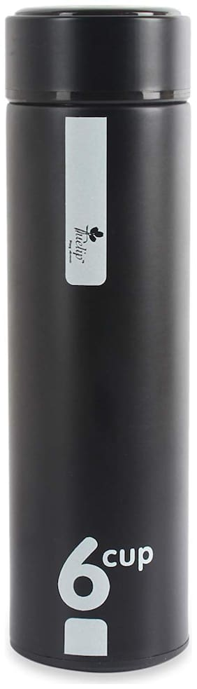Tuelip Black Thermosteel flask ( 500 ml , Set of 1 )