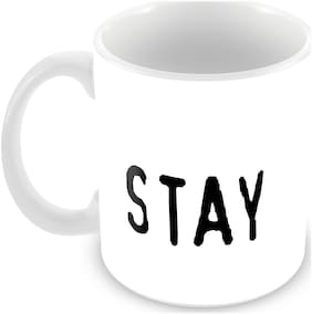 "Tuelip ""Stay Weird"" Funny Quotes Printed Mug For Tea And Coffee Ceramic Printed Mug 350 ml"