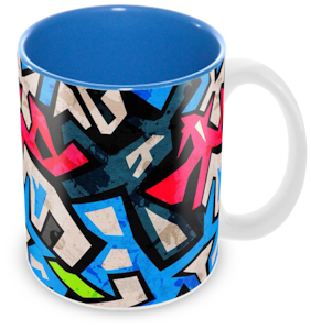 "Tuelip ""Street Art"" Ceramic Printed Mug for Tea And Coffee (350 ml)"