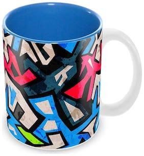 "Tuelip ""Street Art"" Ceramic Printed Mug (350 ML)"