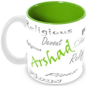Tuelip Stylish Customize Name Arshad with Meaningful Ceramic Printed Mug Tea & Coffee 350 ml