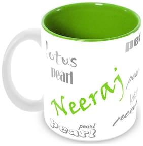 Tuelip Stylish Customize Name Neeraj with Meaningful Ceramic Printed Mug Tea & Coffee 350 ml