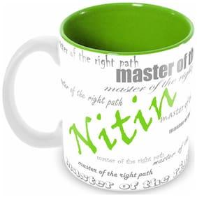 Tuelip Stylish Customize Name NITIN with Meaningful Ceramic Printed Mug Tea & Coffee 350 ml