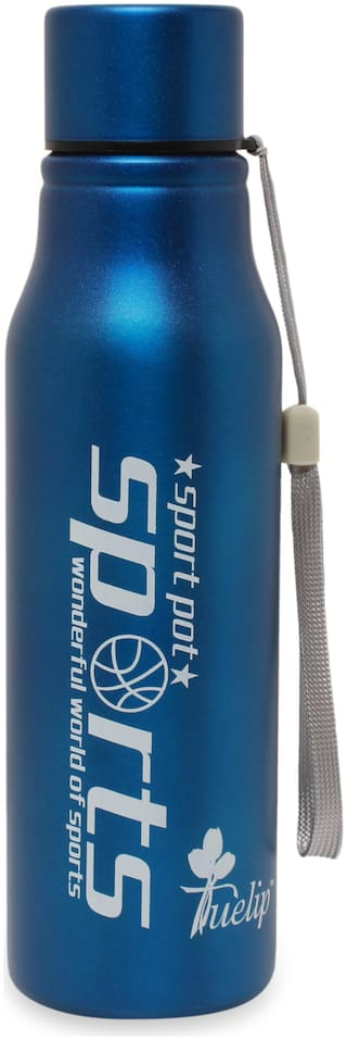 Tuelip Stainless Steel Water Bottle Set of 1 ( Blue , 750 ml )