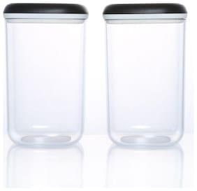 Tupperware 1300 ml Transparent Plastic Container Set - Set of 2
