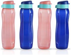 Tupperware 750 ml Plastic Multi Water Bottles - Set of 4