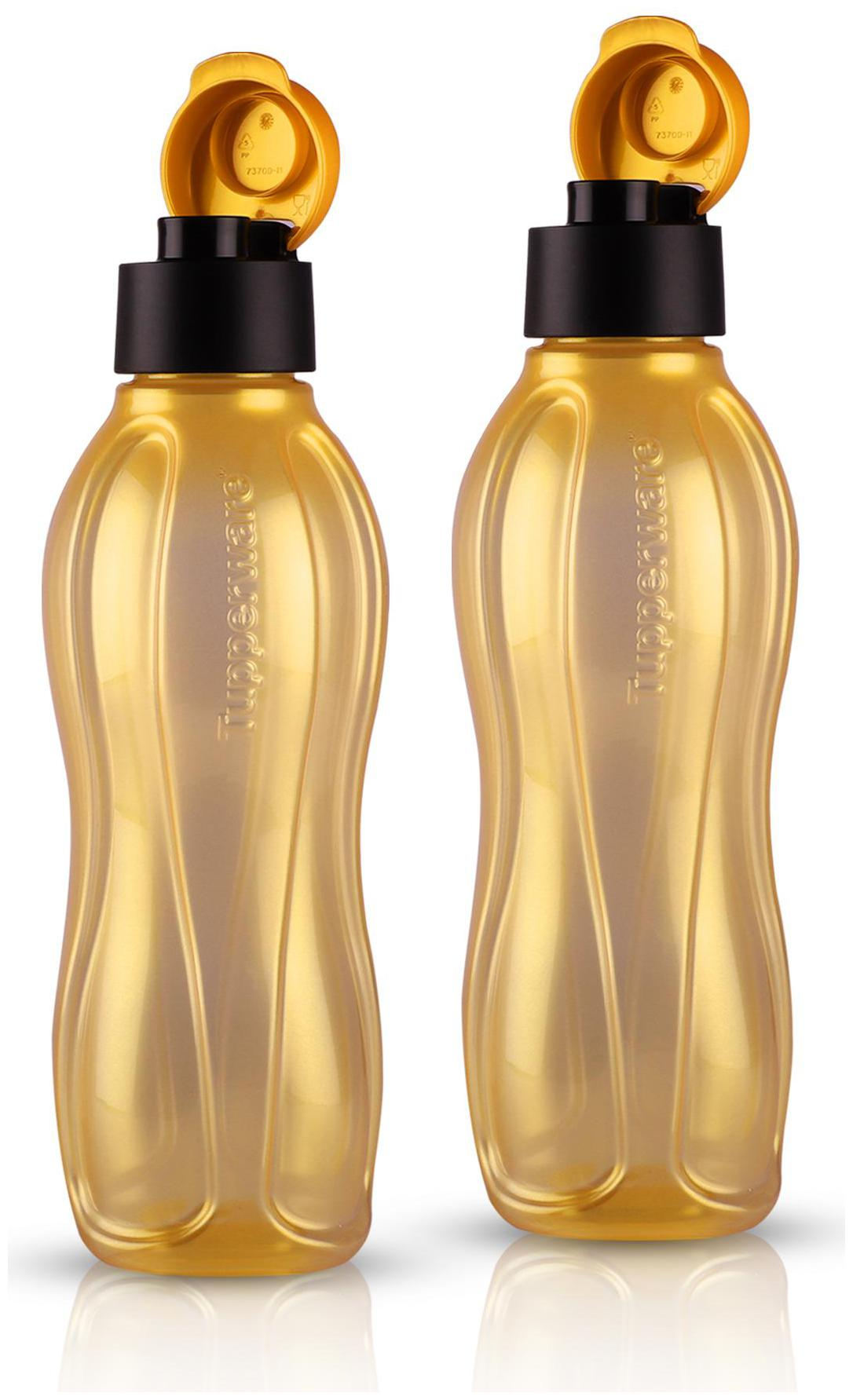 Tupperware Aquasafe Water Bottle 750 ml Gold 2 pcs by Tupperware Distributor High Fliers PS