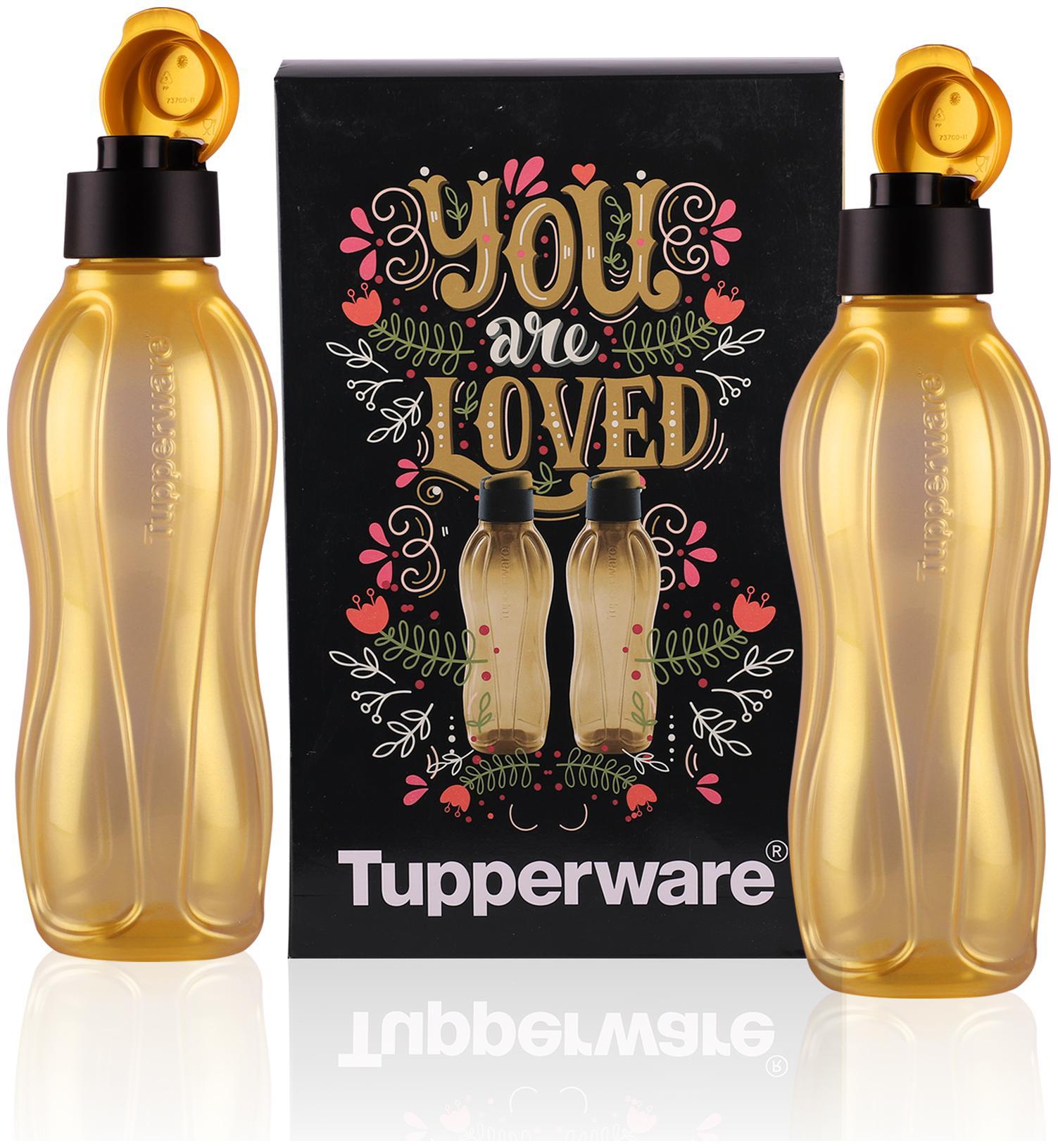 Tupperware Aquasafe Water Bottle 750 ml Gold 2 pcs