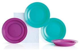 Tupperware Cereal Soup Handy Plates 4pc
