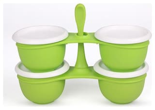 Tupperware Condiment Pickle Chutney Serving Blossom Condimate Set 1l