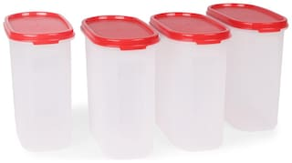 Tupperware Oval Dry Storage Containers 1.7L 4pcs