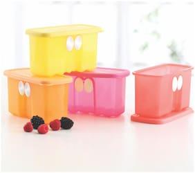 Tupperware Fridge Smart Mini Plastic Container Set, 400ml, Set of 4, Multicolour