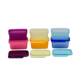 Tupperware Rectangle Refrigerator Container Keep Tab 160ml 6pc