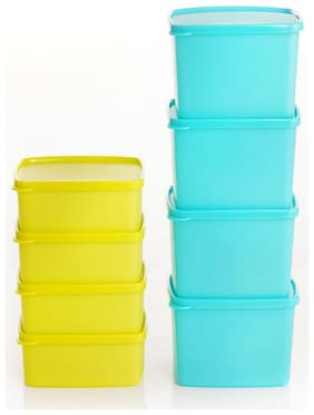 Tupperware Square Refrigerator Container Cool N Fresh 8Pc